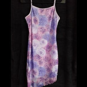 Purple and pink flower dress